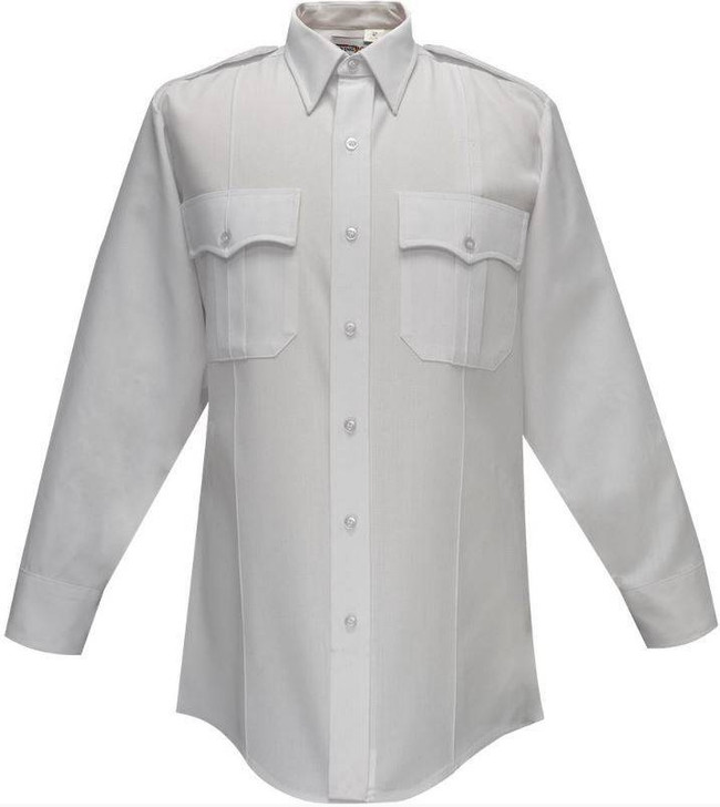 Flying Cross Deluxe Tropical 65percent Poly/35percent Rayon Womens Long Sleeve Shirt with Pleated Pockets 102W66