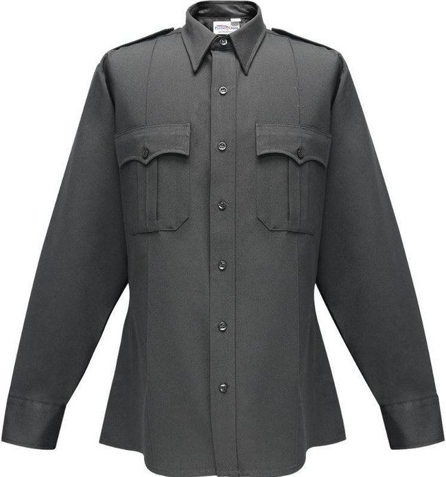 Flying Cross 100percent Performance Poly Command Mens Long Sleeve Zip Shirt with Reinforced Elbows 34W78Z