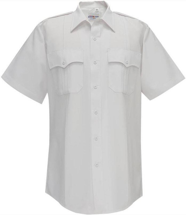 Flying Cross 65percent Polyester/35percent Cotton Duro Poplin Mens Short Sleeve Shirt 85R54