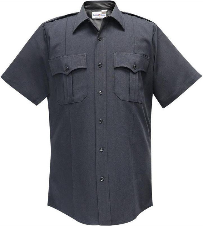 Flying Cross 100percent Performance Poly Command Mens Short Sleeve Shirt with Zipper Front 87R78Z
