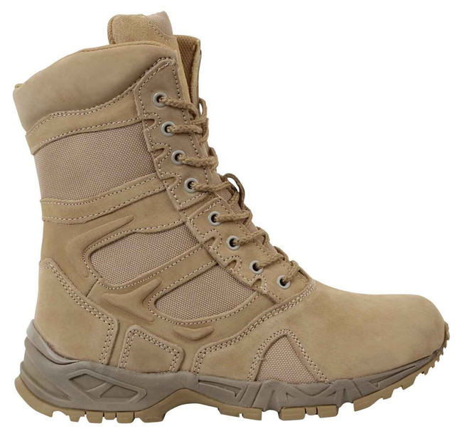 Rothco Desert Tan Forced Entry 8 Side Zip Boot 5357