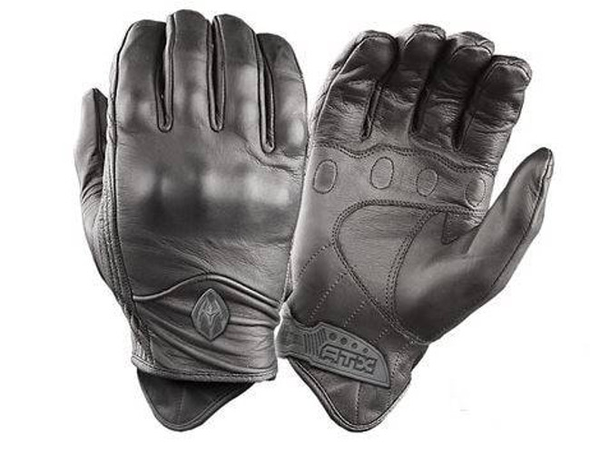 Damascus Gear All-Leather Gloves with Knuckle Armo ATX95