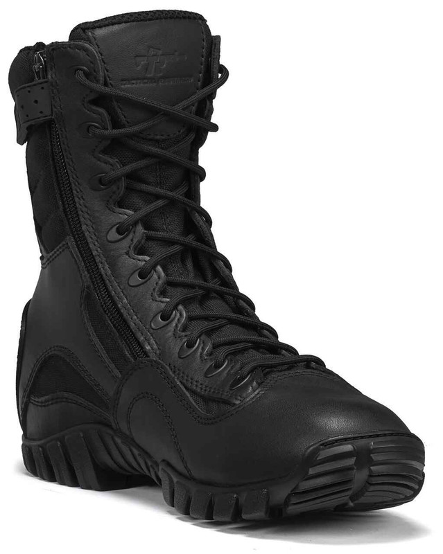 Tactical Research Mens Black Class-A 6 Hot Weather High Shine Side-Zip Tactical Boot TR906Z