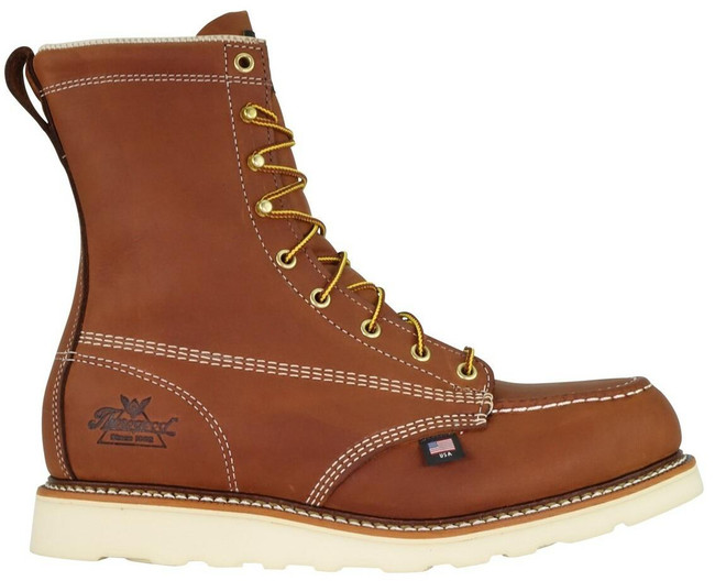 """Thorogood Men's American Heritage 8"""" Moc Toc Maxwear Wedge Safety Toe 804-4208 -outside"""