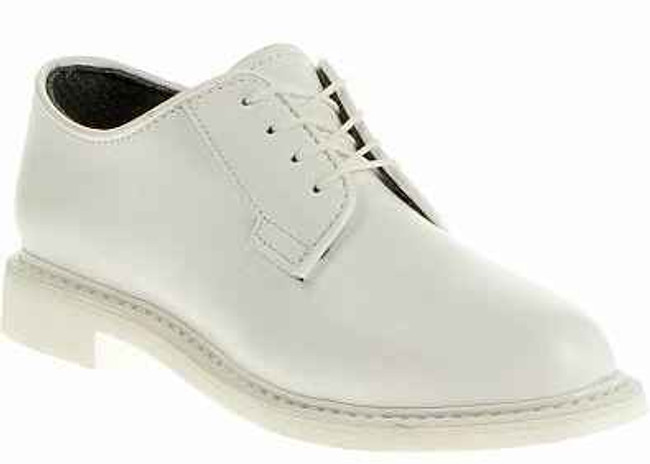 Bates Footwear Womens Lites White Leather Oxford - Navy Dress Uniform E07131