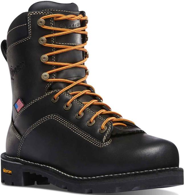 Danner Mens Quarry USA Black 8 Work Boot 17309 17309