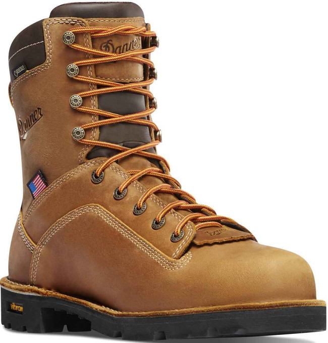 Danner Mens Quarry USA Distressed Brown Alloy Toe 8 Work Boot 17317 17317