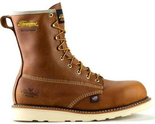 """Thorogood Men's American Heritage 8"""" Waterproof Composite Safety Toe  Wedge Boot 804-4210 - Outside"""