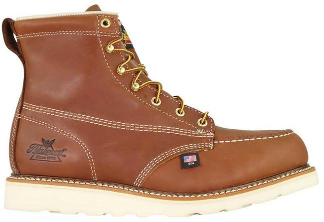 "Thorogood Men's American Heritage 6"" Moc Toe Safety Toe 804-4200 - Outside"
