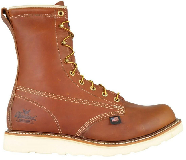 """Thorogood American Heritage Men's 8"""" Safety Toe Wedge Boot 804-4364 - Outside"""