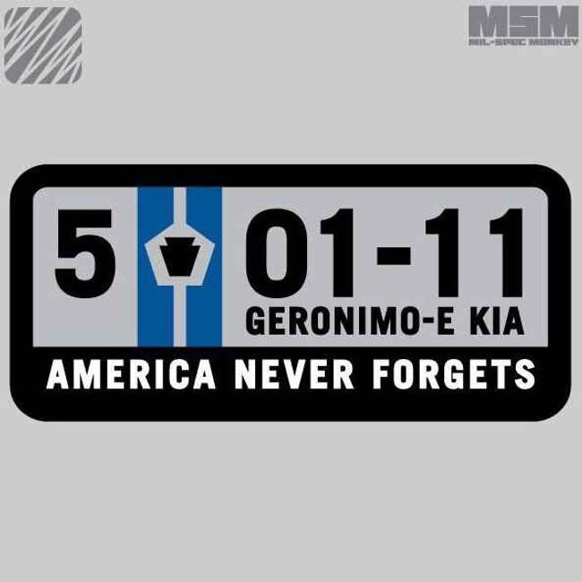 Mil-Spec Monkey 5-01-11 Patch Geronimo E-KIA Patch 5-01-11