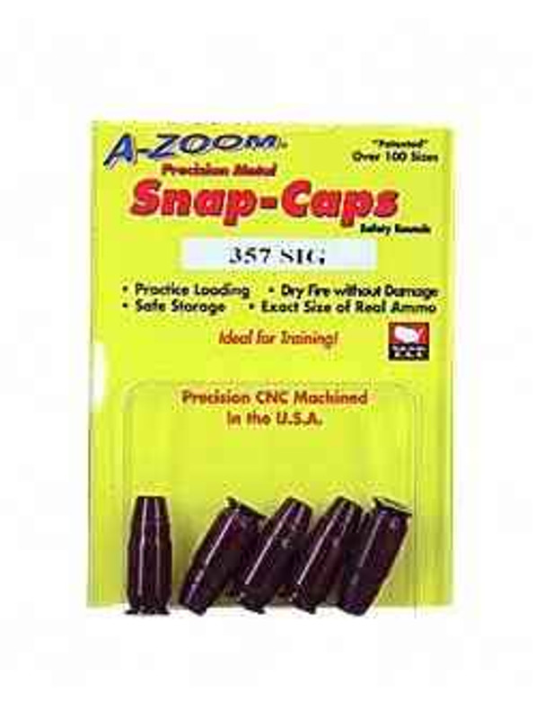 A-Zoom Snap Caps 357 Sig 5/Pack 15159 15159 666692151590