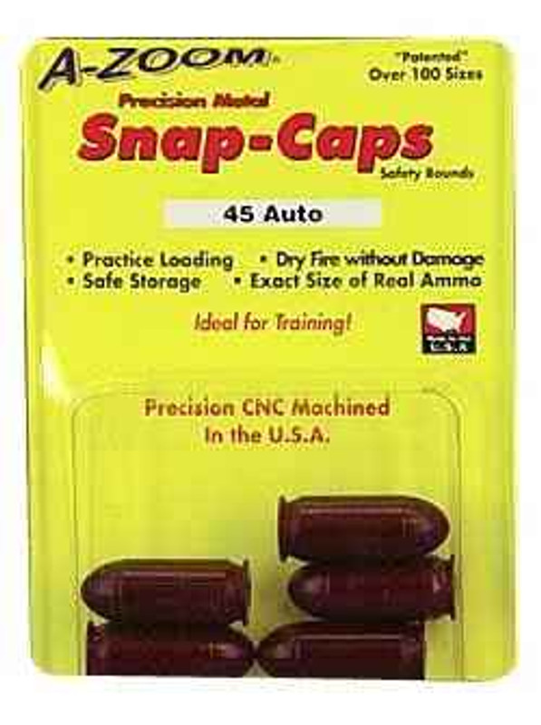 A-Zoom Snap Caps 45 ACP 5/Pack 15115 15115 666692151156