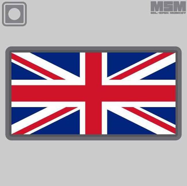 Mil-Spec Monkey British Flag PVC Patch BRITISHFLAG - La Police Gear