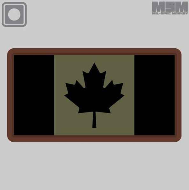 Mil-Spec Monkey Canadian Flag PVC Patch CANADIANFLAGPVC - LA Police Gear