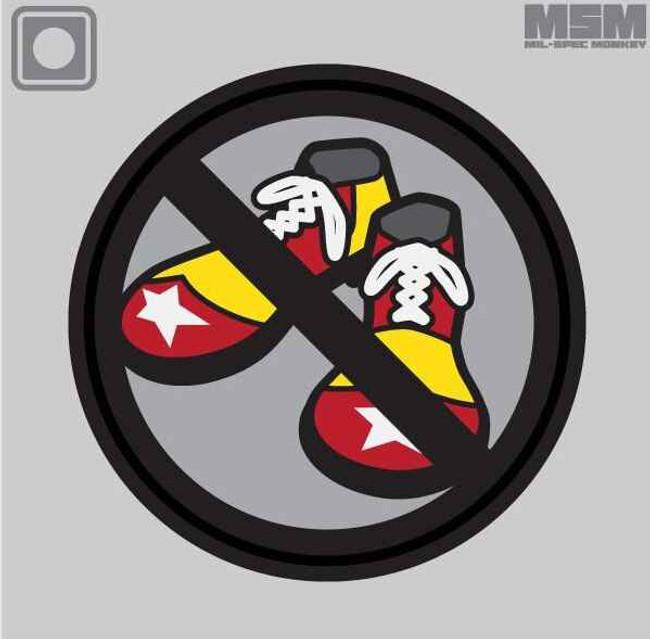 Mil-Spec Monkey No Clown Shoes PVC Patch CLOWNSHOES