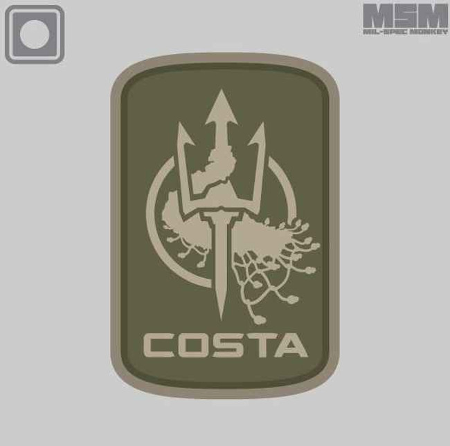 Mil-Spec Monkey Costa Ludus Logo 2in PVC Patch COSTALUDUSLOGO2INPVC - La Police Gear