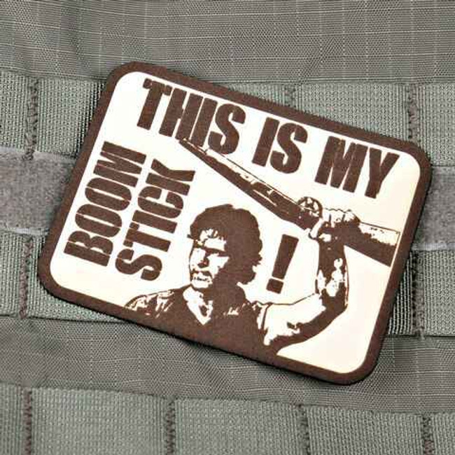 Tactical Outfitters This Is My Boomstick Violent Little Machine Shop Leather Patch BOOMSTICK