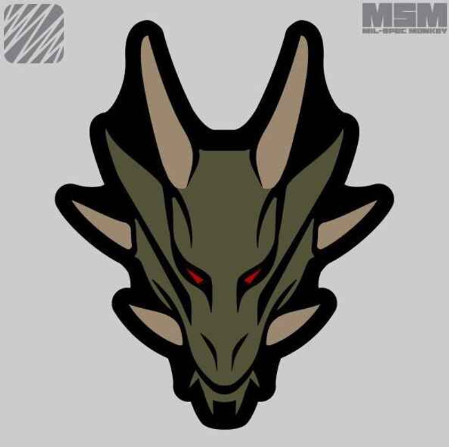 Mil-Spec Monkey Dragon Head Patch DRAGONHEAD