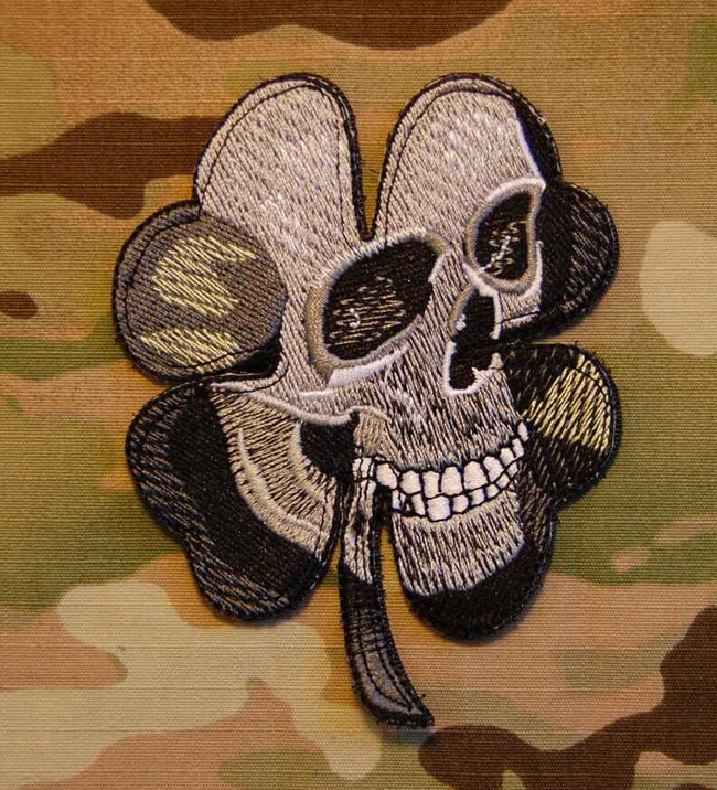 Tactical Outfitters Pirate Skull Clover BritKitUSA Morale Patch CLOVER-SKULL