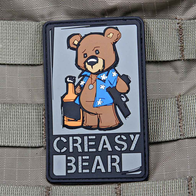 Tactical Outfitters Creasy Bear Violent Little Machine Shop PVC Patch CREASY-BEAR
