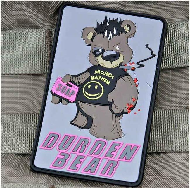 Tactical Outfitters Durden Bear Fight Club Violent Little Machine Shop PVC Patch DURDEN-BEAR