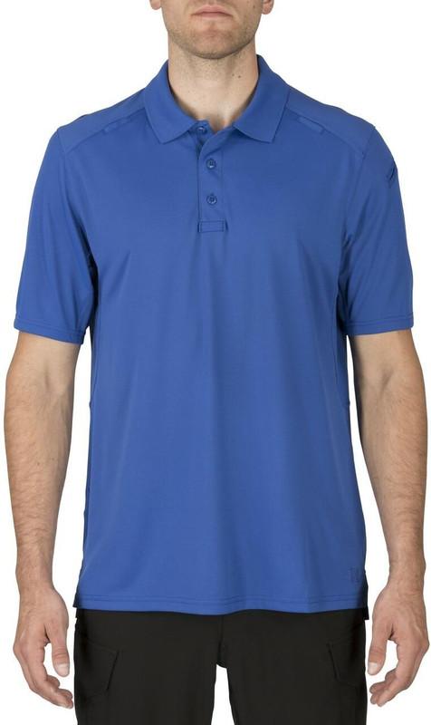 5.11 Tactical Helios Short Sleeve Polo Shirt - Academy Blue