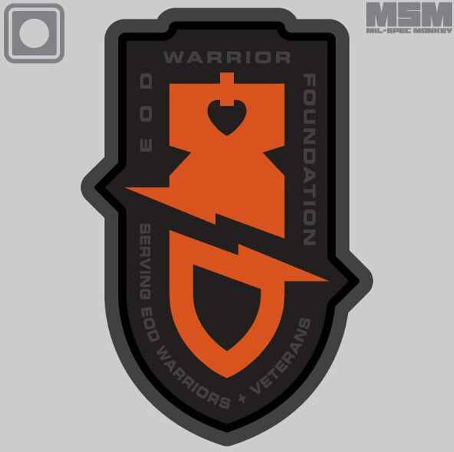 Mil-Spec Monkey EOD Warrior Foundation PVC Patch EODWARRIORFOUNDATION