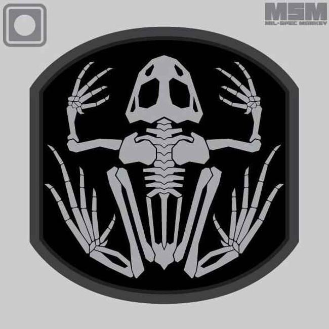 Mil-Spec Monkey Frog Skeleton PVC Patch FROGSKELETON