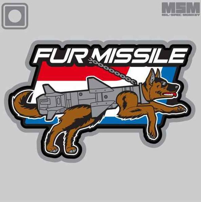 Mil-Spec Monkey Fur Missile PVC Patch FURMISSILEPVC