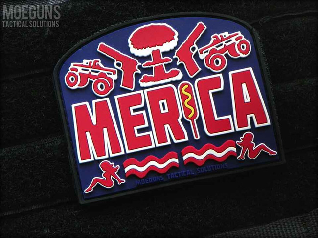 Tactical Outfitters Merica MOE Guns PVC Patch MERICA