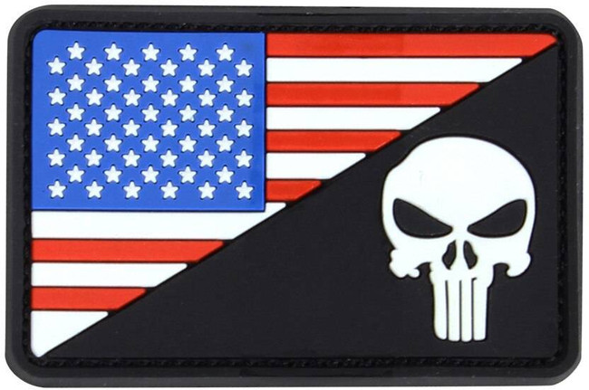 Condor US Flag Morale PVC Punisher Patch 181006-002 022886269395
