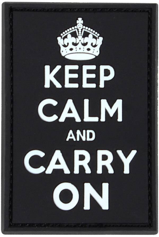 Condor Keep Calm And Carry PVC Patch 181009-034 022886269456