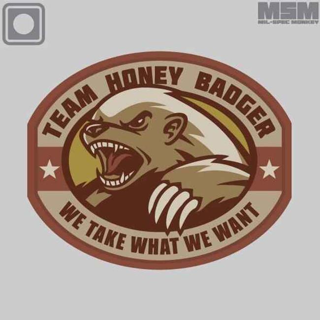 Mil-Spec Monkey Honey Badger PVC Patch HONEYBADGERPVC