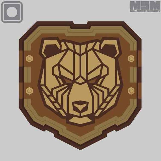 Mil-Spec Monkey Industrial Bear Patch INDUSTRIALBEAR