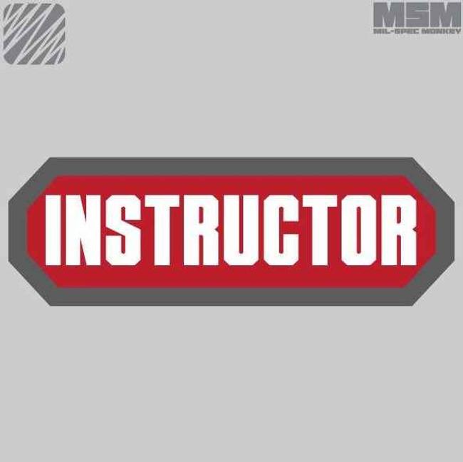 Mil-Spec Monkey Instructor Patch INSTRUCTOR-PA