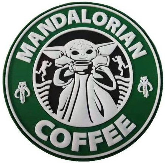Tactical Outfitters Mandalorian Coffee PVC Patch MANDO-COFFEE