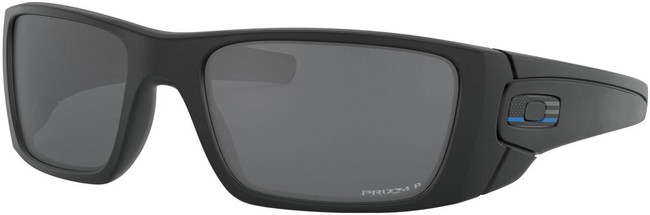 Oakley SI Fuel Cell Tonal Thin Blue Line Sunglasses with Prizm Black Polarized Lenses OO9096-K560 888392455789
