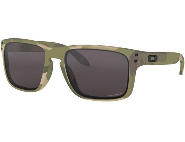 Oakley SI Holbrook Multicam Sunglasses with Prizm Grey Polarized Lenses OO9102-I255 888392403995