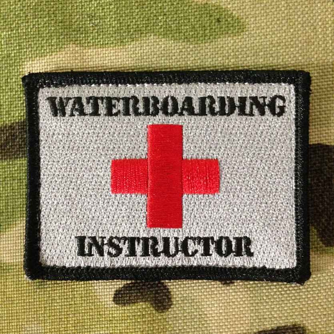 Tactical Outfitters Waterboarding Instructor Patch WATERBOARDING-INS