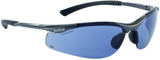 Bolle Contour Safety Glasses with Smoke PC ASAF Lenses 40045-BO