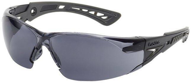 Bolle Rush Safety Glasses with Smoke PC ASAF Platinum Lenses 40208-BO