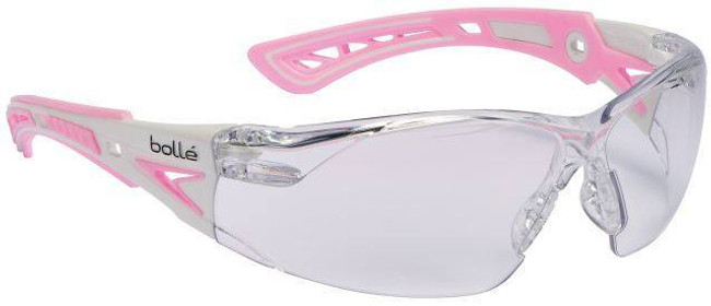 Bolle Rush Small Safety Glasses with Clear PC ASAF Platinum Lenses 40254-BO