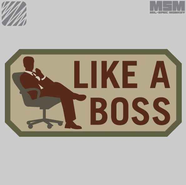 Mil-Spec Monkey Like a Boss Patch LIKEABOSS
