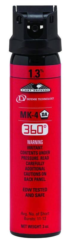 Defense Technology First Defense 360 1.3percent MK-4 Stream OC Aerosol DT-56843