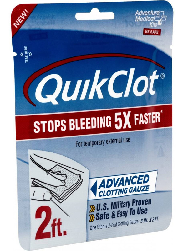 Adventure Medical Kits QuikClot Gauze 3 x 2 AMK-5020-0025 044224001252