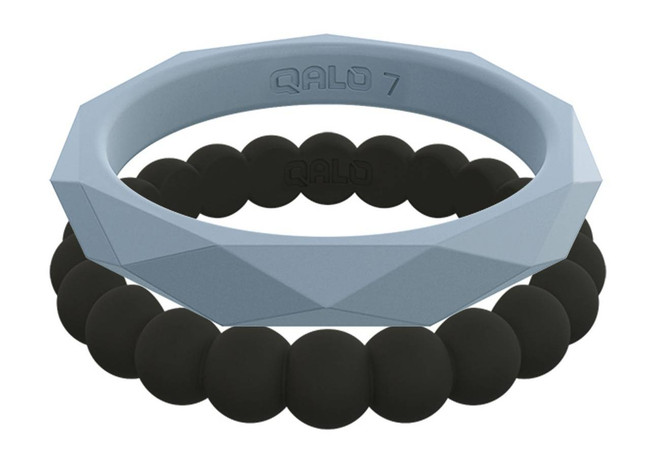 Qalo Womens Stackable Collection J Silicone Ring QS9-SCJ