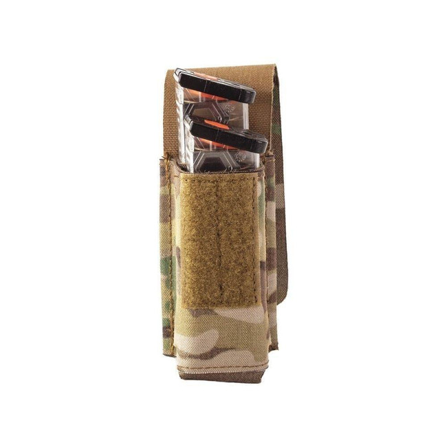 Sentry Stacked Double Pistol Magazine Pouch with Staggered column 25NP05