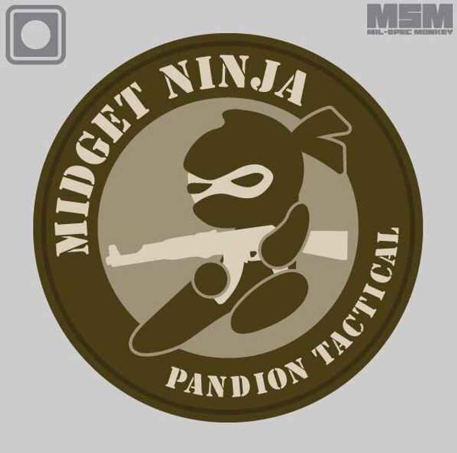 Mil-Spec Monkey Midget Ninja AK Patch MIDGETNINJAAK