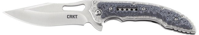 Columbia River Knife and Tool Fossil Black Compact Clip Point Folding Knife CR-5462